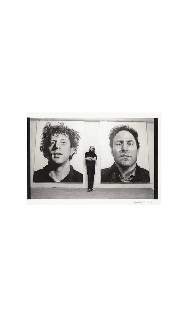 Chuck Close with 'Phil' and 'Richard', 1969