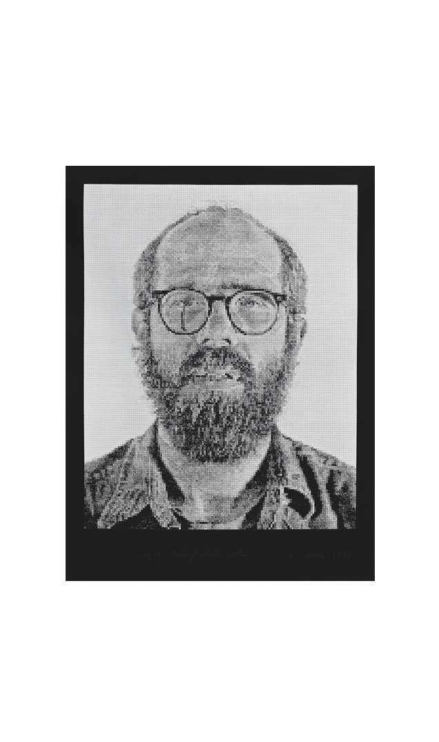 Self-Portrait/White Ink, 1978
