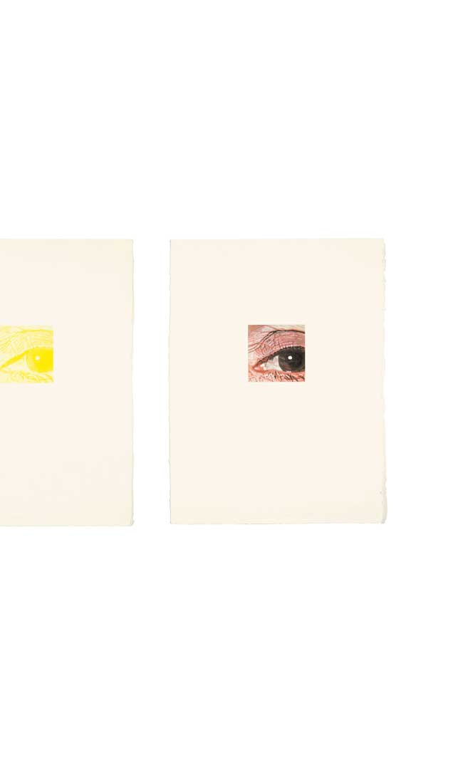 Linda/Eye Series, Five Drawings, 1977