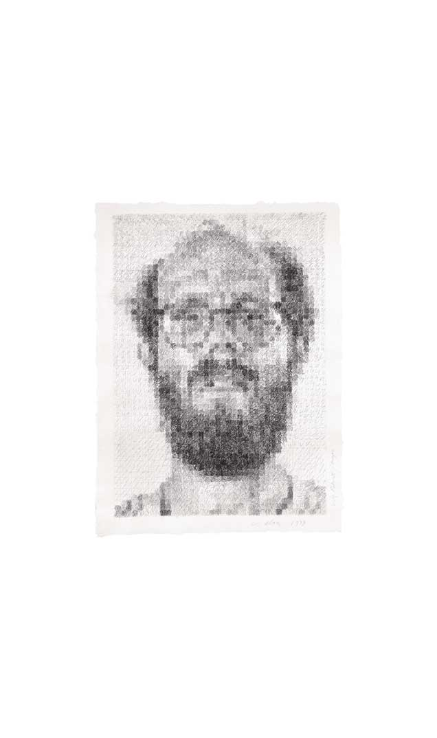 Self-Portrait/Conte Crayon, 1979
