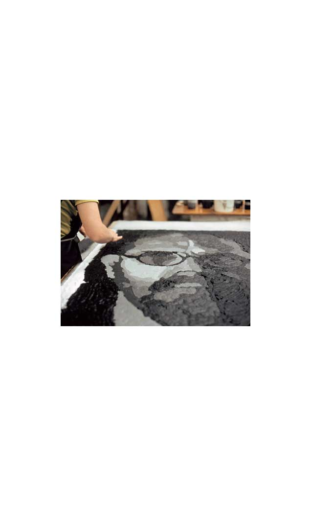 'Self-Portrait Pulp' in progress, 2001