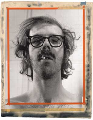 Maquette for 'Self-Portrait', 1968; photograph on cardboard