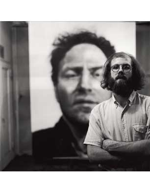 Chuck in front of 'Richard', 1970 (Photo by Gerald Johnson)