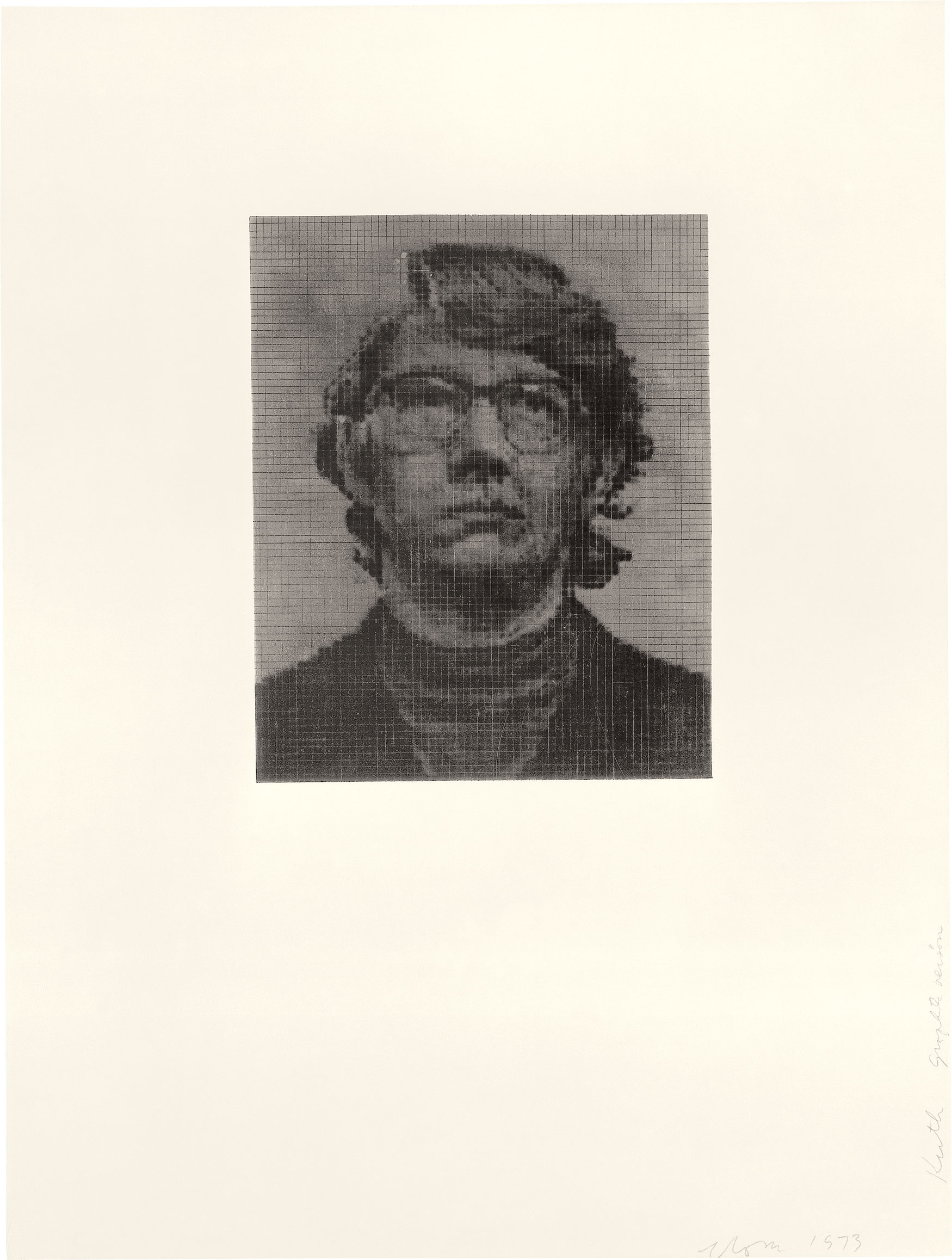 Keith/Three Drawing Set, 1973; ink on graphite ground version (Photo by Ellen Page Wilson)