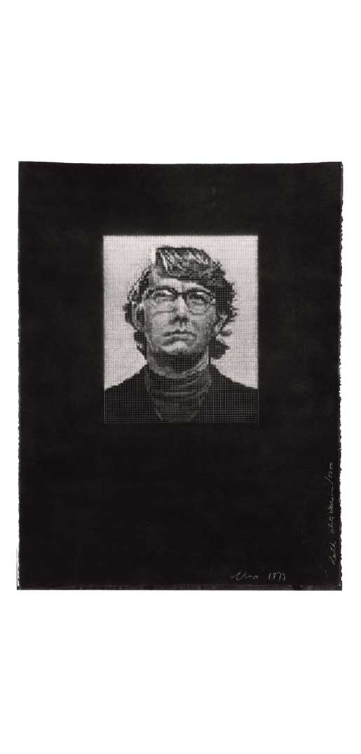 Keith/Three Drawing Set, 1973; white ink on black paper version (Photo by Ellen Page Wilson)