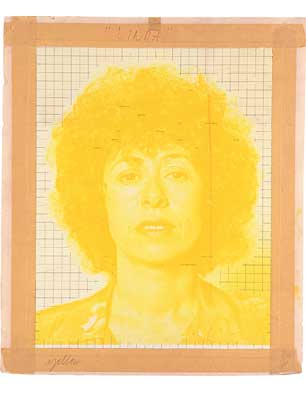 Yellow color separation maquette for 'Linda', 1975-76