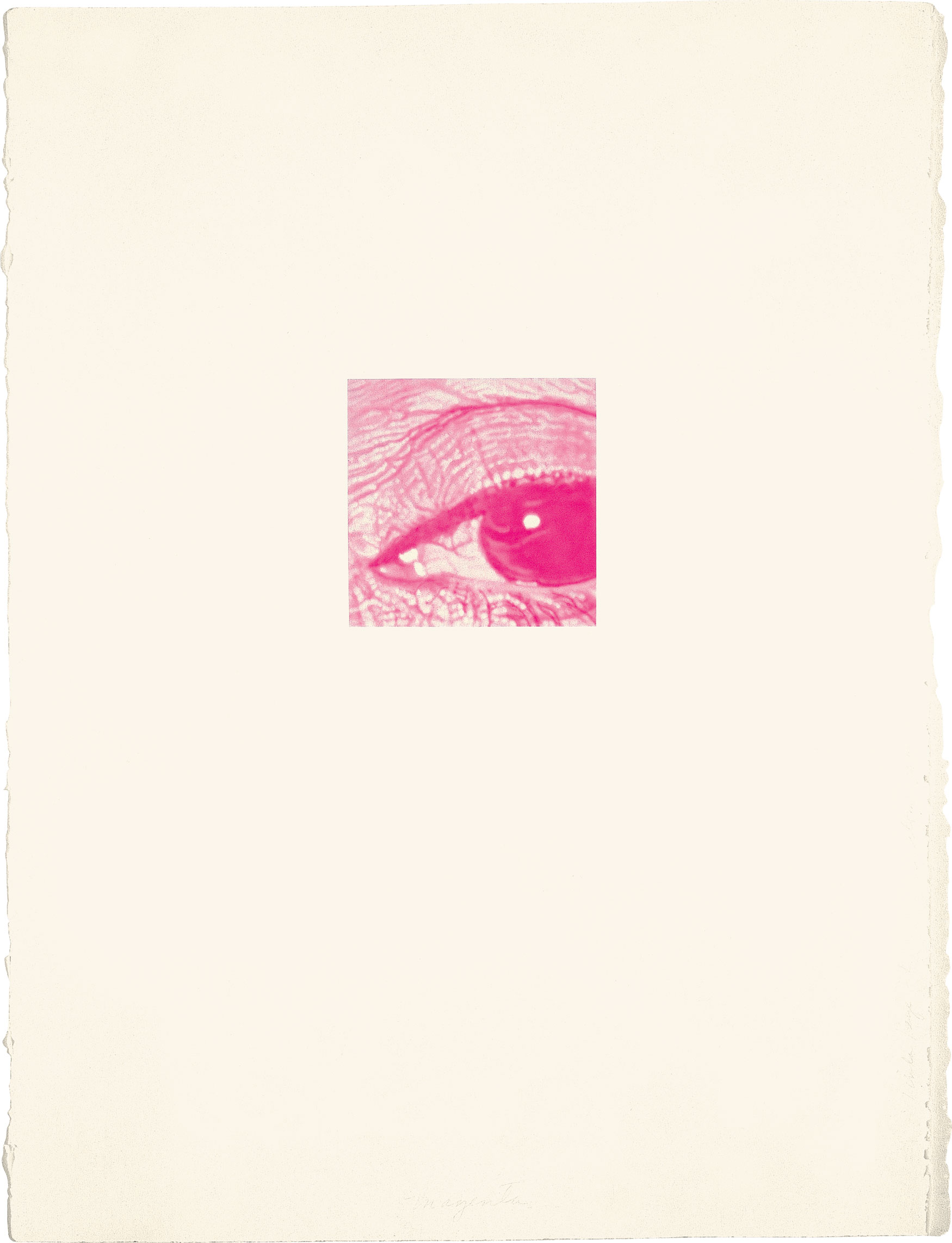 'Linda/Eye Series', Magenta; watercolor, 1977