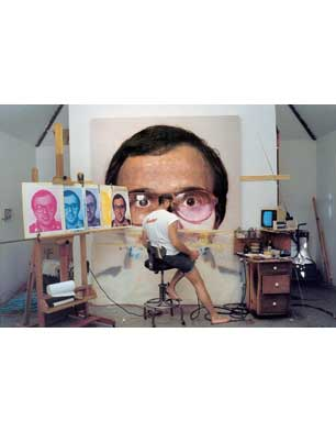 Chuck Close working on 'Mark', 1978-79
