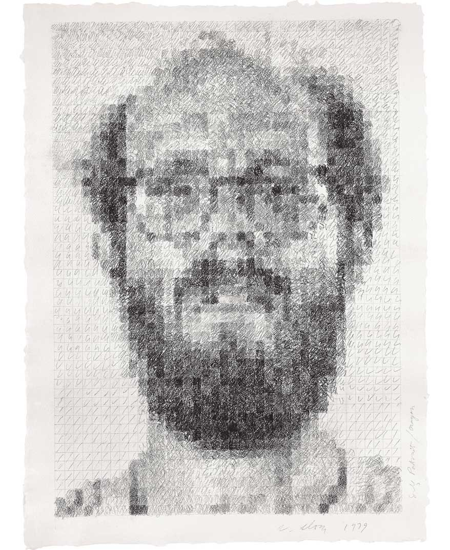Self-Portrait/Conte Crayon, 1979 (Photo by Kerry Ryan McFate)