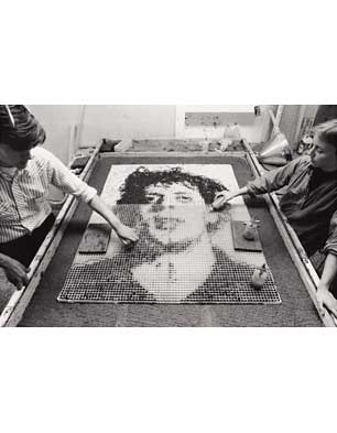 'Phil II' being made, Dieu Donne Studio, 1982