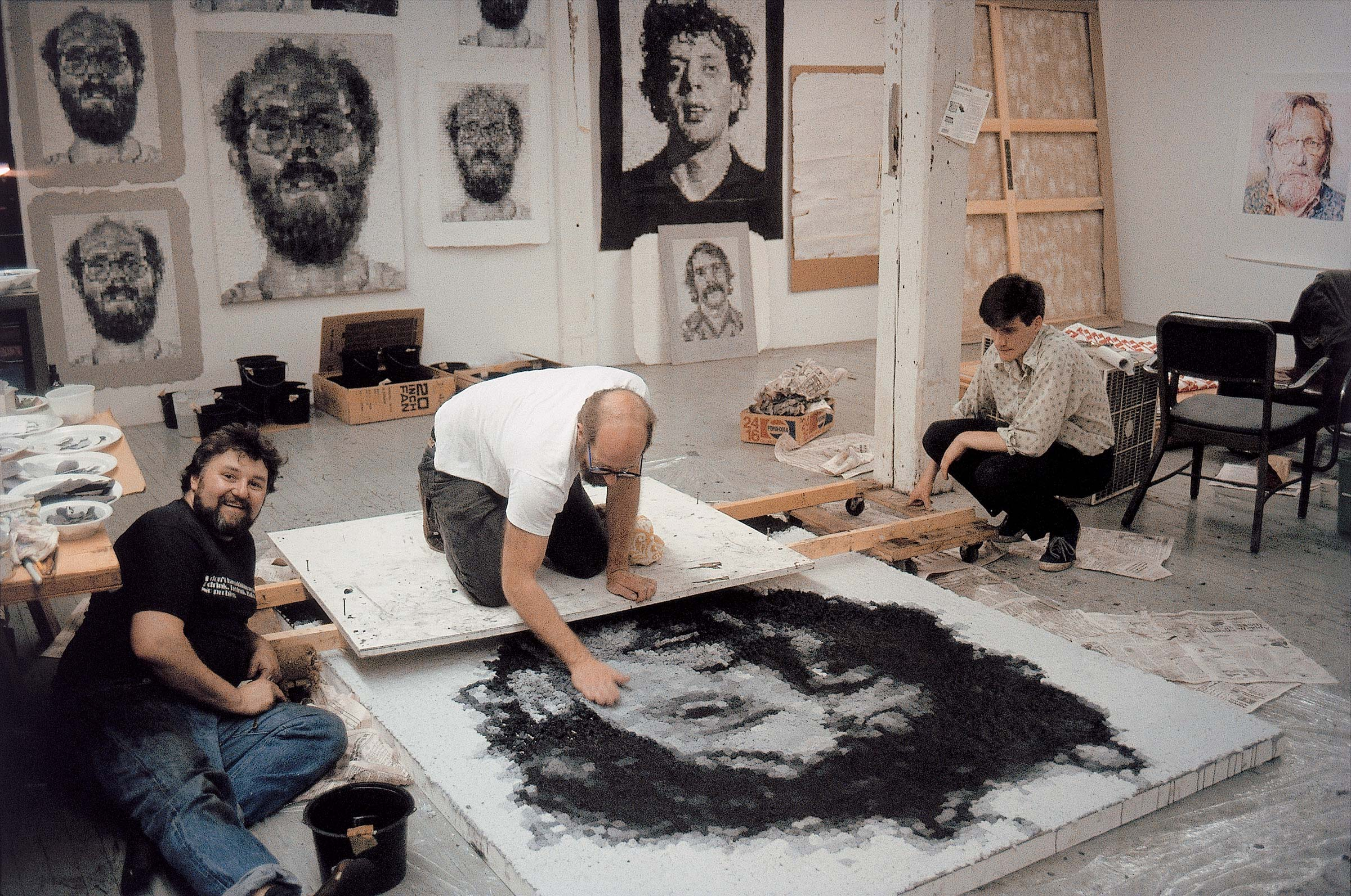 'Phil' in progress, 1983 (Photo by John Back)