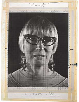 Maquette for 'Janet', 1987; photograph on cardboard