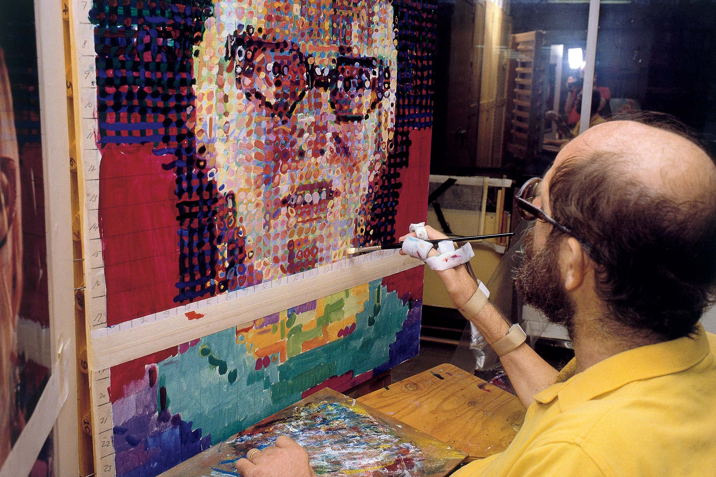 Chuck Close painting 'Janet', 1989 (Photo by John Back)