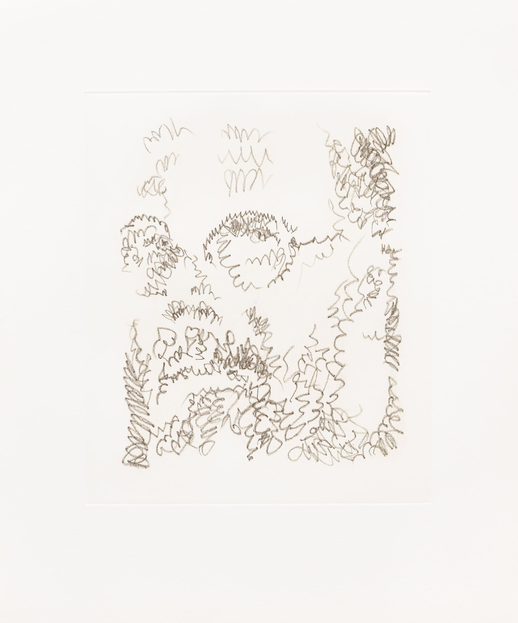 Self-Portrait/Scribble/Etching Portfolio State 10, 2000